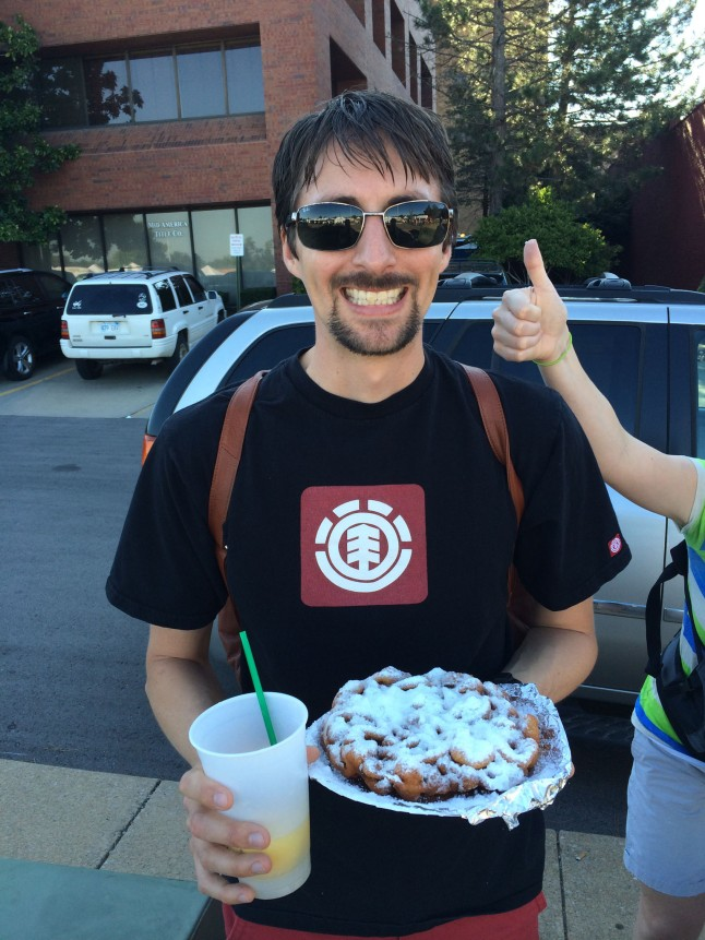 Funnel-cake is a staple...